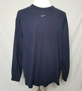 VTG-Nike-Center-Swoosh-Travis-Scott-T-Shirt-Mens-XL-Long-Sleeve-Navy-Tee-90s