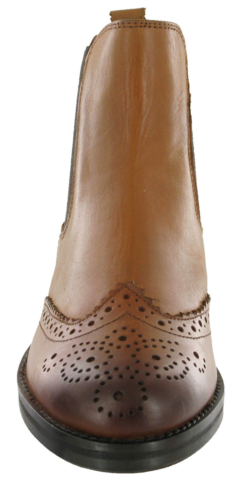 Cipriata Twin Gusset Brogue Equestrian Leather Boots Ankle Horse Riding Equestrian Brogue Womens 21cc3a