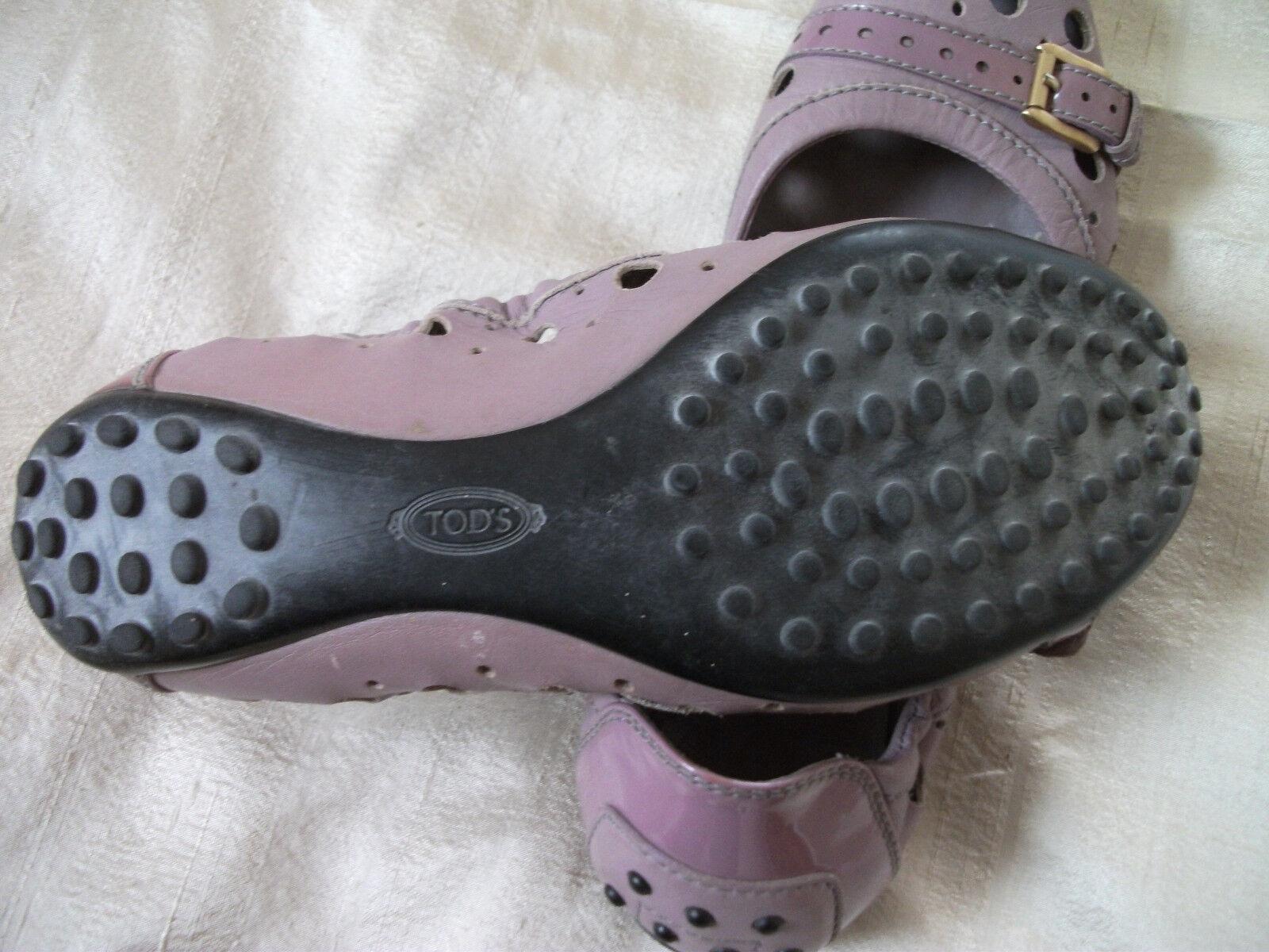 Orig. TOD`S - hochwertige, exklusive violette Luxus-Ballerinas Gr. 37 37 37 1939cc
