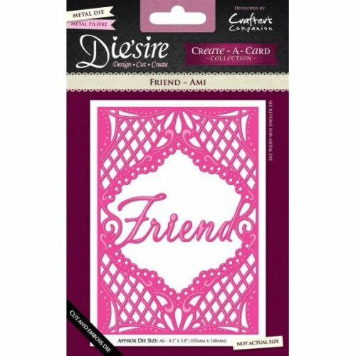 Crafters Companion Diesire Create a Card /& New WORD Dies A6 REDUCED *