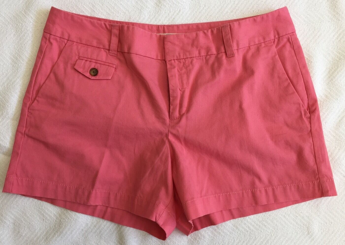 Loft Guava Pink Riviera Shorts With 4in Inseam Sz 8 NWOT