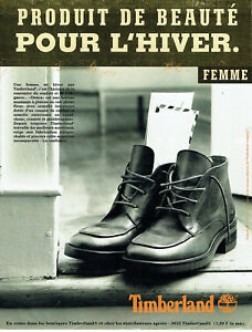 Publicite-Advertising-117-1996-bottine-femme-Debra-par-Timberland