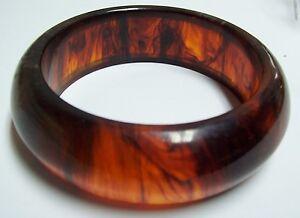 661b1449d9ea9 Details about Vintage Wide ROOTBEER BAKELITE Bangle Bracelet