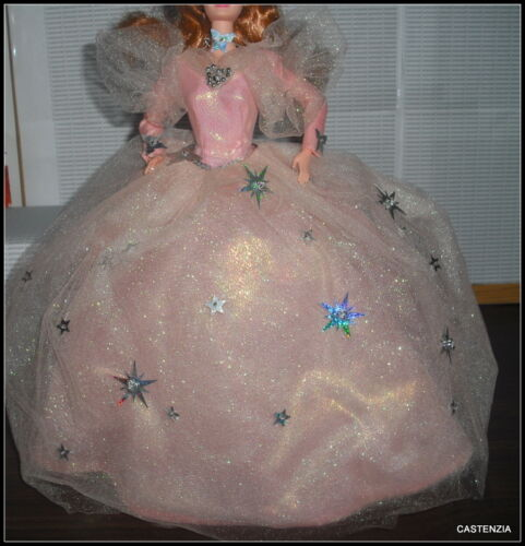 DRESS MATTEL BARBIE  WIZARD OF OZ GOOD WITCH GLENDA DOLL PINK SPARKLY STAR GOWN