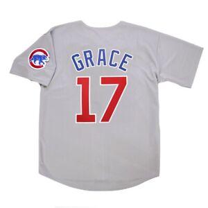 Mark Grace Chicago Cubs Grey Road Jersey w/ Team Patch Men's (M ...