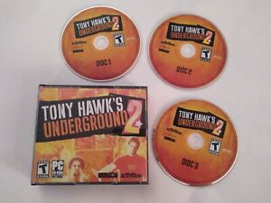 Tony-Hawk-039-s-Underground-2-PC-2004-Hawk-SkateBoarding-Video-Rare-Game-Good