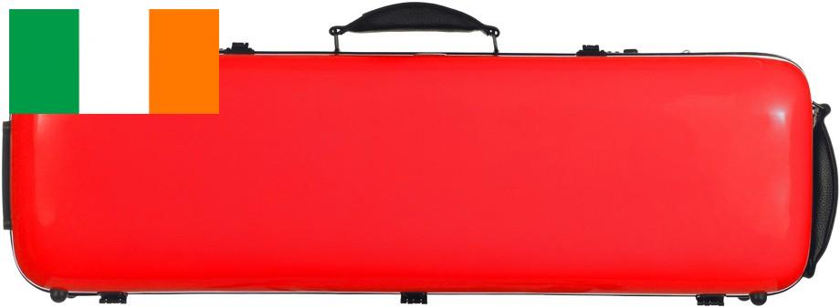 Fiberglass violin case Safe Oblång 4 4 M-case röd