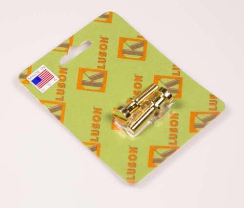 Kluson Stop Tailpiece Studs Brass 0.781 Inch Gold USA Made 2