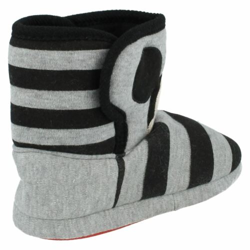 Disney/'s Mickey Mouse Boys Grey//Black Pull On Slipper Boots winter