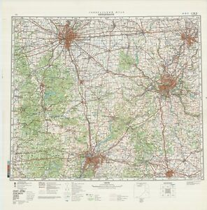 Russian Soviet Military Topographic Maps Cincinnati Usa 1 500k