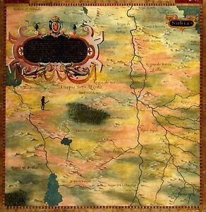 MAP-ANTIQUE-BONSIGNORI-GOLD-NUBIA-HISTORIC-LARGE-REPLICA-POSTER-PRINT-PAM0710