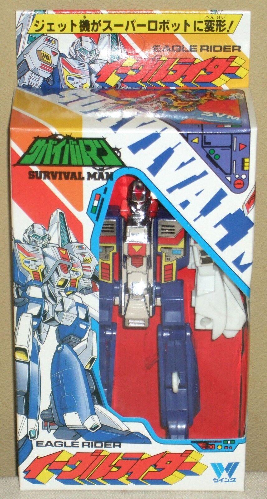 Survival Man Eagle Rider Robo Transformers 5.7  14.5cm Figures Dolls Wing NIB