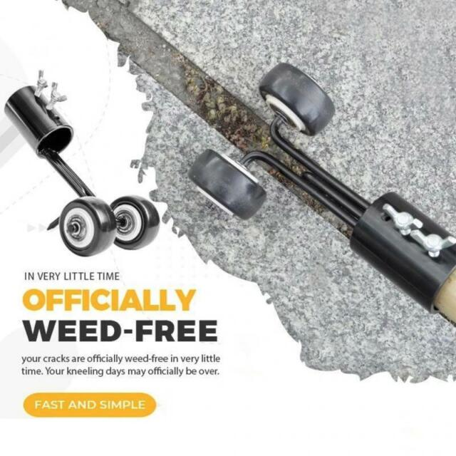 Weeds Snatcher Weeder With Wheel Weed Puller Tool Remove Gardening Grass Tr BRPF