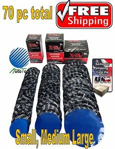 70-pc-Radial-Tire-Repair-Round-Patch-Assortment-SMALL-MEDIUM-LARGE-Xtra-Seal-USA
