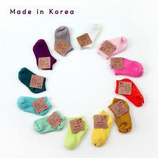 Lot of 10 Baby Cotton Socks Toddler Infant 3-15 Months  Vivid Solid Non-slip