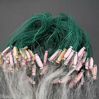 25m 3 Layers Monofilament Fishing Fish Gill Net With Float C6s8