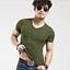 Fashion-Men-039-s-Shirt-Slim-Fit-Short-Sleeve-Muscle-Basic-Tee-Casual-Tops-T-Shirts miniatura 8