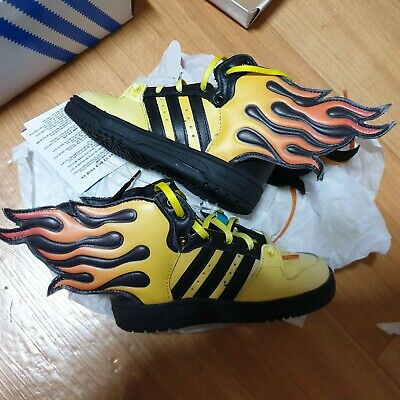 Adidas jeremy scott flame fire wings for infant baby size 7 rare new | eBay