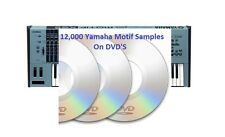 12,000 Yamaha Motif XS and ES Sounds On CD Wav Samples Sound Kit