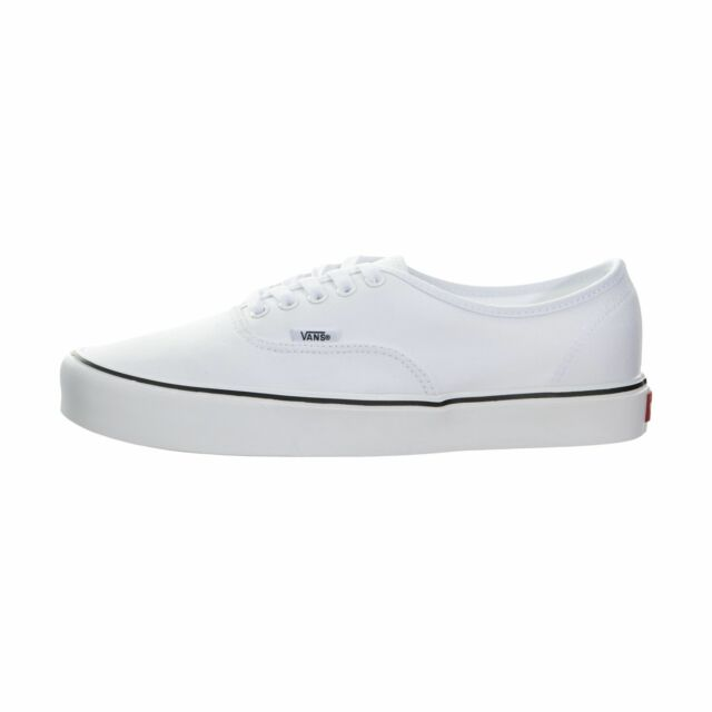 3cd866ac51 VANS Mens Authentic Ultra Cush Lite SNEAKERS Canvas True White Size ...