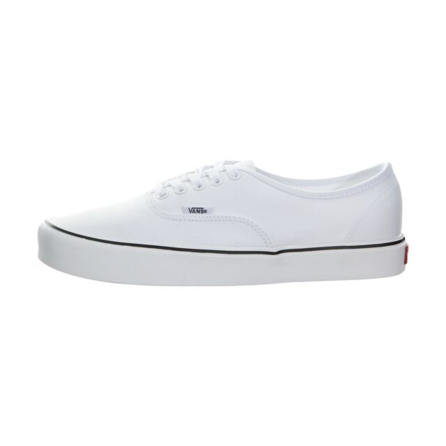 ba674b6e3f VANS Mens Authentic Ultra Cush Lite SNEAKERS Canvas True White Size ...