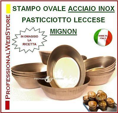 FORMA STAMPO PASTICCIOTTI PASTICCIOTTO LECCESE stampi-forno dolce-salato INOX