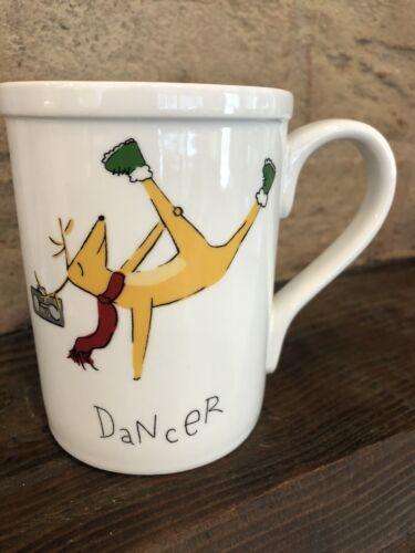 Pottery Barn ChristmasReindeer Mug Cup Hip Dancer New In Box Holiday Santa
