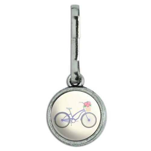 Antiqued Charm Purse Backpack Zipper Pull Bike Racing Biking Bicycle Ride