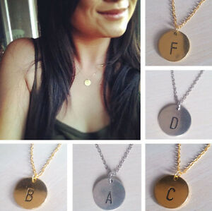 W-friendship-Initial-necklace-personalized-Discs-Charm-Custom-Letter-Jewelry-New