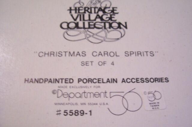 Dept 56 Dickens Village ~ Christmas Carol Spirits Set of 4 ~ 55891 USED