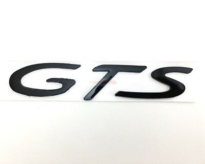 GTS Chrome Metal Silver Badge Trunk Emblem Sticker For 911 GTS Turbo S Coupe