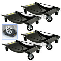 Set Of (4) Car Moving Wheel Tire Dolly Skate Jack Shop Lift Cars Automotive Tool