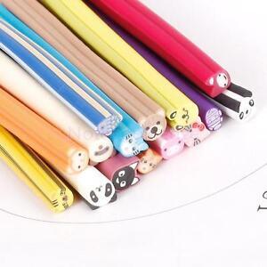 Bulk-15Pcs-Panda-Bear-Pig-Fish-Zoo-Slice-Fimo-Polymer-Clay-Canes-Nail-Art-Rods