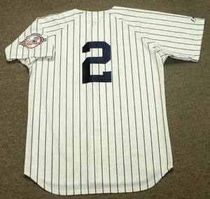 83026a010 DEREK JETER New York Yankees 2003 Majestic Cooperstown Home Baseball ...