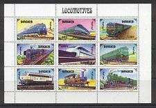 Mongolia 1997 Trains/Steam/Transport/Diesel 9v sht s717