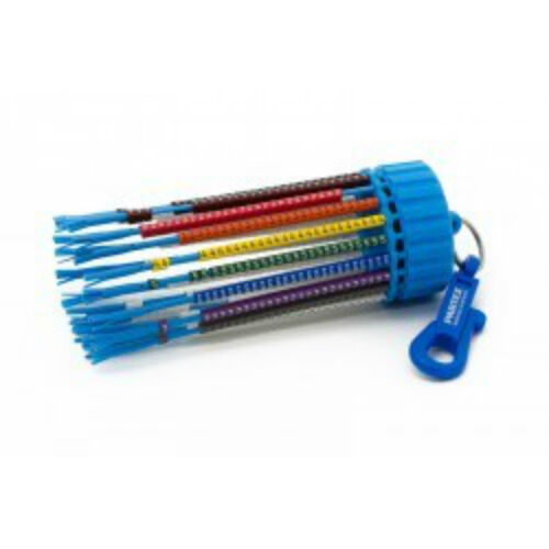 Cable Marking Keyring Dispenser With 500 Colour Cable Markers Legends 0-9