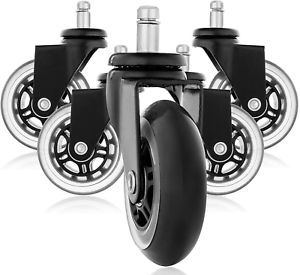 Rollerblade Style Rubber Replacement Wheels Office Chair Caster Wheels for Your