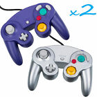 2 Brand New Controller for Nintendo GameCube or Wii -- Blue and Silver