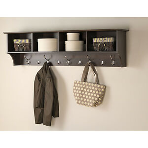Details About Entryway Shelf Organizer Rack Wall Mounted Hat Hanger Hanging Coat Hook Storage