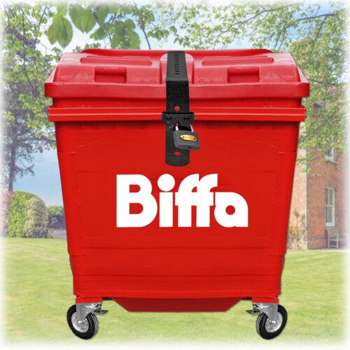 Biffa Euro Industrial Commercial Waste Bin Lid Strap Lock Easy Fit