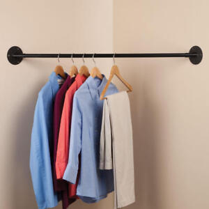 Image Is Loading Corner Hanging Bar Closet Clothes Rack Home Organizer