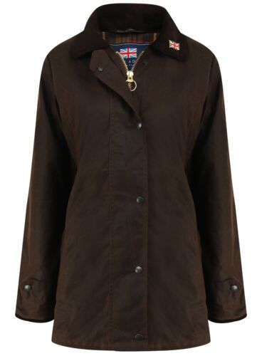 Wax Jacket Ladies 3//4 Cotton Riding Vented Horse Equestrian Fitted Waterproof