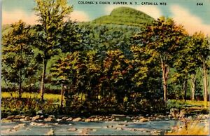 Vtg 1930's Colonel's Chair, Catskill Mountains, Hunter New York NY Postcard