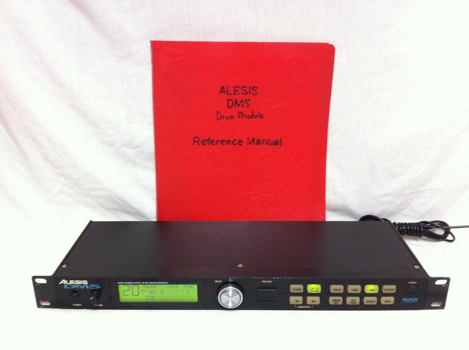 Rack Mount ALESIS DM5 Drum Control Module w  MANUAL High Sample Rate 18 Bit DM-5