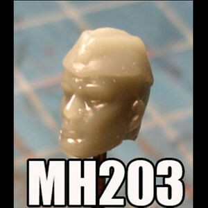 """MH203 Custom Cast Sculpt part Male head cast for use with 3.75/"""" action figures"""
