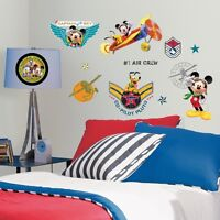 Mickey Mouse Pilot Clubhouse Wall Decals Disney Stickers Boys Room Decor