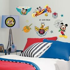 New MICKEY MOUSE PILOT CLUBHOUSE WALL DECALS Disney Stickers Boys Room Decor