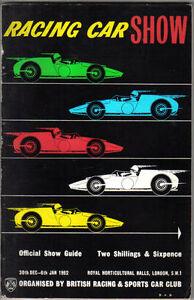 Racing-Car-Show-3rd-original-Catalogue-amp-Show-Guide-Olympia-Jan-1962
