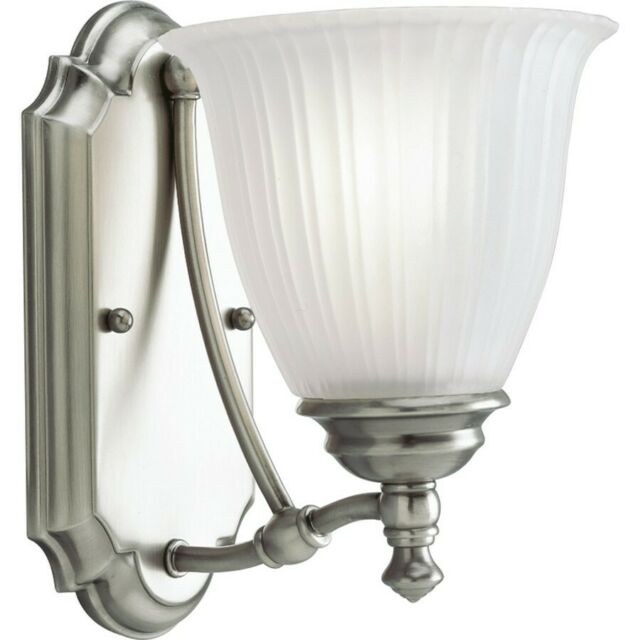 Progress Lighting P3016 81 Renovations 1 Light Antique Nickel Bath Sconce