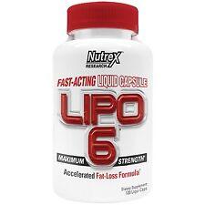 Nutrex LIPO 6 Fast-Acting Fat Burner Rapid Weight Loss - 120 Liqui-caps